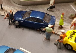 Autounfall im Miniaturwunderland Hamburg